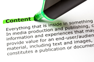 Content , paper, printed, green marker