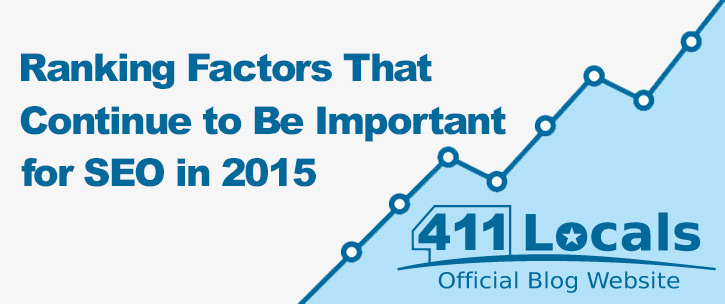 2015 most important seo ranking factors 411locals